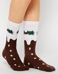 Silly Socks Christmas Pudding Socks Multi