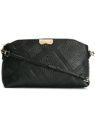 Burberry Embossed Check Crossbody Bag Black