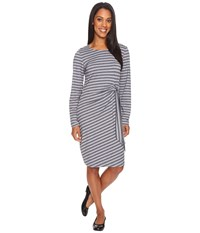 Exofficio Wanderlux Salama Dress Charcoal Heather Stripe Women's Dress Black