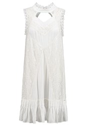 Khujo Cora Summer Dress Offwhite Off White