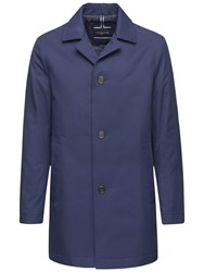 Tommy Hilfiger Liam Tailored Overcoat Blue