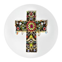 Christian Lacroix Love Who You Want 'Black Cross' Plate
