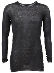 Avant Toi Sheer Jumper Black