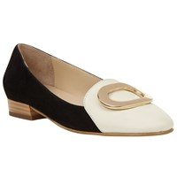 John Lewis Glenda Loafers Black White