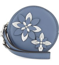 Michael Michael Kors Flower Leather Pouch Denim