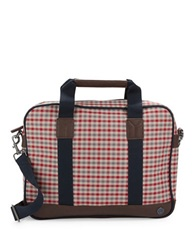 Ben Sherman Gingham Brief Case Blue
