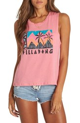 Billabong Find Your Tribe Graphic Muscle Tee Guava