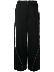 Y 3 Wide Leg Track Trousers Black