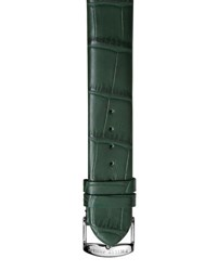 Philip Stein Teslar Alligator Print 20Mm Watch Strap Green