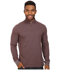 Prana Irwin 1 4 Zip Dark Umber Men's Long Sleeve Pullover Brown