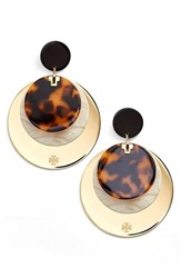 Women's Tory Burch Layered Disc Earrings