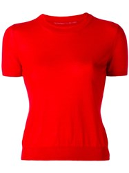 Ermanno Scervino Shortsleeved Jumper Red