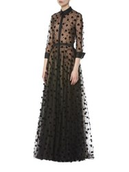 Carolina Herrera Polka Dot Trench Gown Black