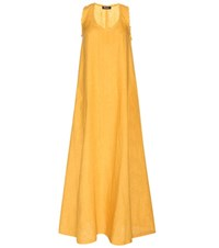 Loro Piana Caren Linen Dress Yellow