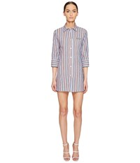 Love Moschino Striped Shirtdress Red White Blue Women's Dress Multi