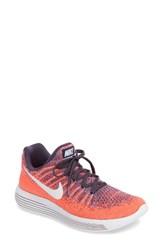 Nike Women's Lunarepic Low Flyknit 2 Running Shoe Dark Raisin White Purple