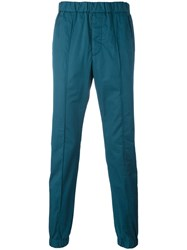 Marni Ankle Cuff Chino Trousers Blue