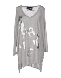 5Preview Topwear T Shirts Women Light Grey