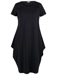 Chesca Navy Tuck Trim Jersey Drape Dress Navy