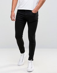 Selected Homme Plus Jeans In Skinny Fit Black Denim Black