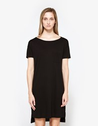Alexander Wang Classic Boatneck Dress With Pocket Black