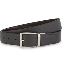 Canali Two Tone Reversible Leather Belt Grey