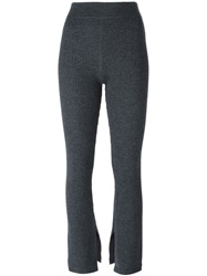 Iro Ribbed Knit Trousers Grey
