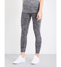 Pepper And Mayne Compression Stretch Jersey Leggings Grey Space Dye