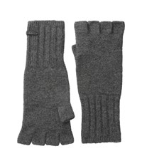 John Varvatos Felted Wool Fingerless Knit Glove Shark Wool Gloves Gray