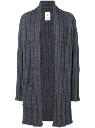 Lost And Found Rooms Knit Open Cardigan Men Acrylic Wool Alpaca M Grey
