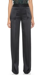 Jason Wu Wide Leg Pintuck Trousers Black