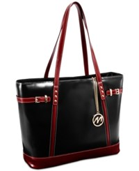 Mcklein Serafina Leather Tote Black