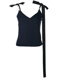 Jacquemus Ribbon Tie Shoulder Camisole Blue