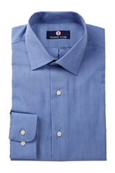Alexander Julian Solid Long Sleeve Regular Fit Shirt Blue