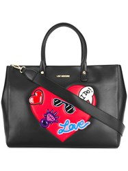 Love Moschino Heart Embellished Tote Black