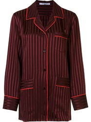Givenchy Striped Relaxed Shirt Red