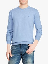 Ralph Lauren Polo Pima Cotton Jumper Blue Heather