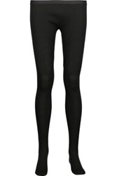 Rick Owens Ribbed Wool Leggings Black