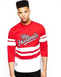 The Hundreds Face Painter Hockey Jersey Red