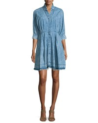 Current Elliott The Reformed Denim Shirtdress Pierrot Size 2 Pierrot W Releas