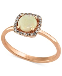 Effy Collection Gemma By Effy Opal 3 4 Ct. T.W. And Diamond Accent Ring In 14K Rose Gold