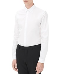 Sandro Seamless Slim Fit Button Down Shirt White