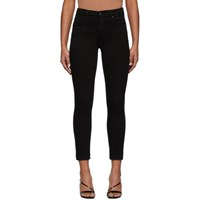 Citizens Of Humanity Black Rocket Crop Mid Rise Skinny Jeans
