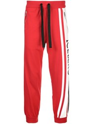 Iceberg Side Stripe Drawstring Trousers Red