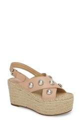 Marc Fisher 'S Ltd Rella Espadrille Platform Sandal Tan Leather