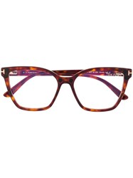 Tom Ford Eyewear Clip On Tinted Sunglasses Brown