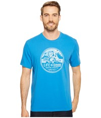 Life Is Good Positive Lifestyle Truck Smooth Tee Marina Blue T Shirt