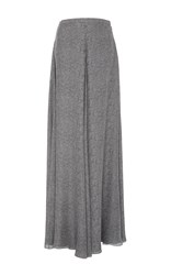 Sally Lapointe Printed Double Georgette Wide Leg Pants Light Grey