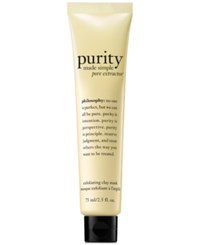 Philosophy Purity Made Simple Pore Extractor Mask 2.5 Oz No Color