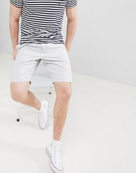 French Connection Slim Fit Chino Shorts Light Grey